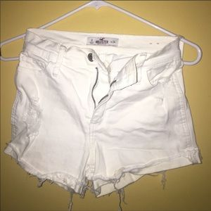 Hollister white shorts size 0